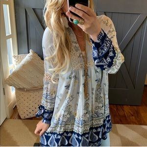 Boho LS Floral Dress